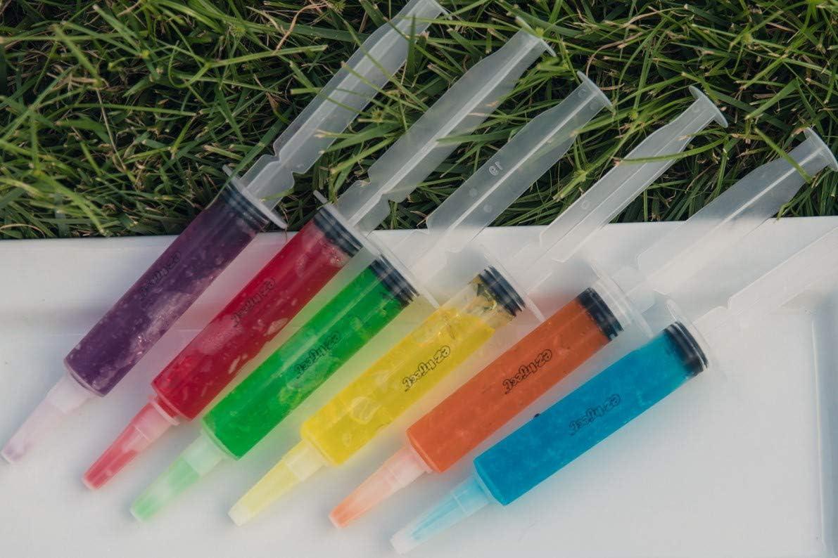Pack of 25 Jello Shot Syringes, Dishwasher-Safe Shot Shooters - Reusable Syringes for Drinking Jello Shots Halloween - Jello Shot Syringes by EZ-Inject (1 oz)