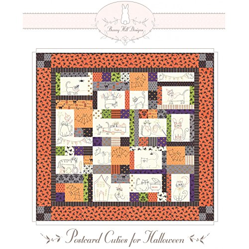 Postcard Cuties for Halloween Quilt Pattern by Bunny Hill Designs BHD2112 (Pattern Bunny Designs Quilt Hill)