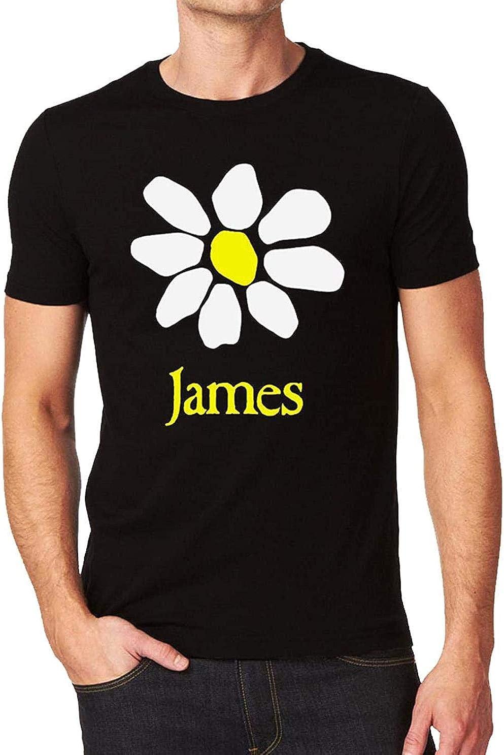 James Band Fresh As A Daisy Flower La Petite Mort Logo Mens T-Shirt