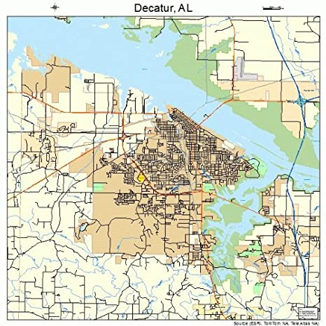 Amazon.com: Large Street & Road Map of Decatur, Alabama AL - Printed ...