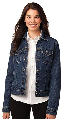Port Authority Women S Denim Jacket At Amazon Women S Coats Shop