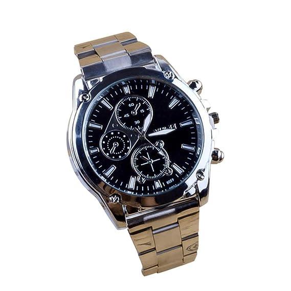 Reloj de pulsera, Jiameng ❀ correa de hombre de acero Atmosferico Business Chi de acero inoxidable de Hombres macchinari Sport la banda reloj de cuarzo ...