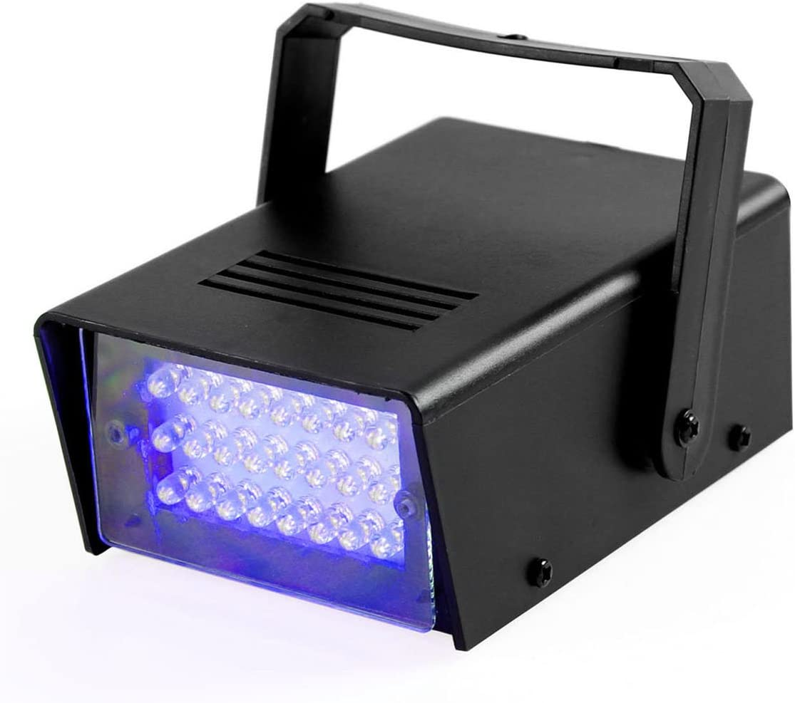 Battery Operated LED Strobe Light Halloween Haunted House Stage Dj Disco Club
