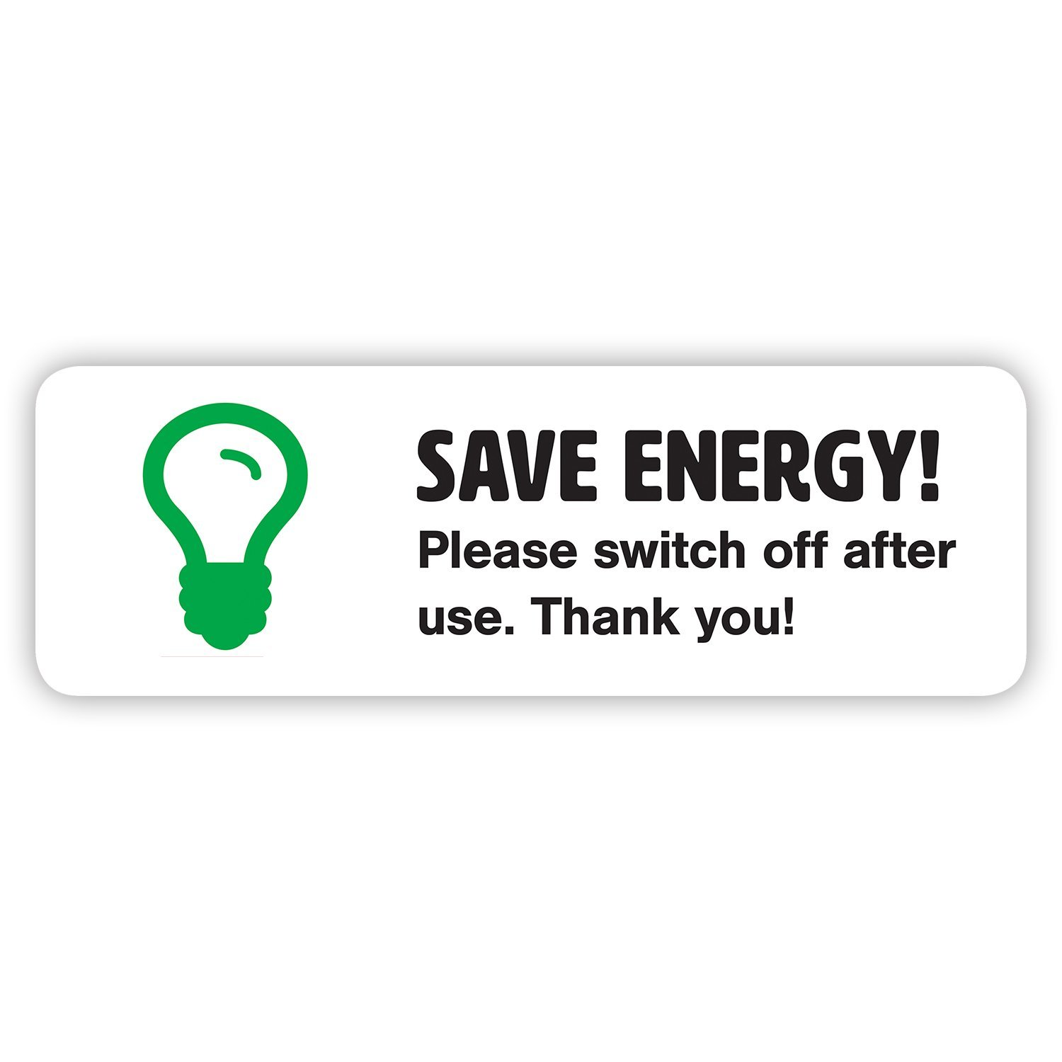Junk Mail Blocker 10 x Save Energy Sticker Set - Turn off Lights or  Appliances - Light Switch Stickers (Small - 6 6 x 2 2 cm)