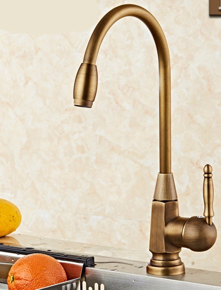 1 Lpophy Bathroom Sink Mixer Taps Faucet Bath Waterfall Cold and Hot Water Tap for Washroom Bathroom and Kitchen Retro Copper Hot Beauty redating Single Handle 7