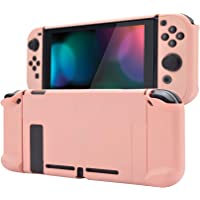 eXtremeRate Back Cover for Nintendo Switch Console, NS Joycon Handheld Separable Protector Hard Shell, Soft Touch…