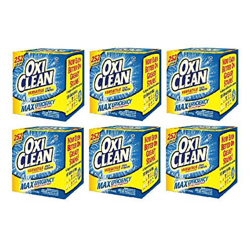 OxiClean Max Efficiency Stain Remover (252 loads) (6-Pack) by OxiClean