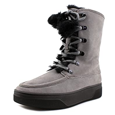 Juno Lace Up Women Winter Boots Gray Storm 9 M US