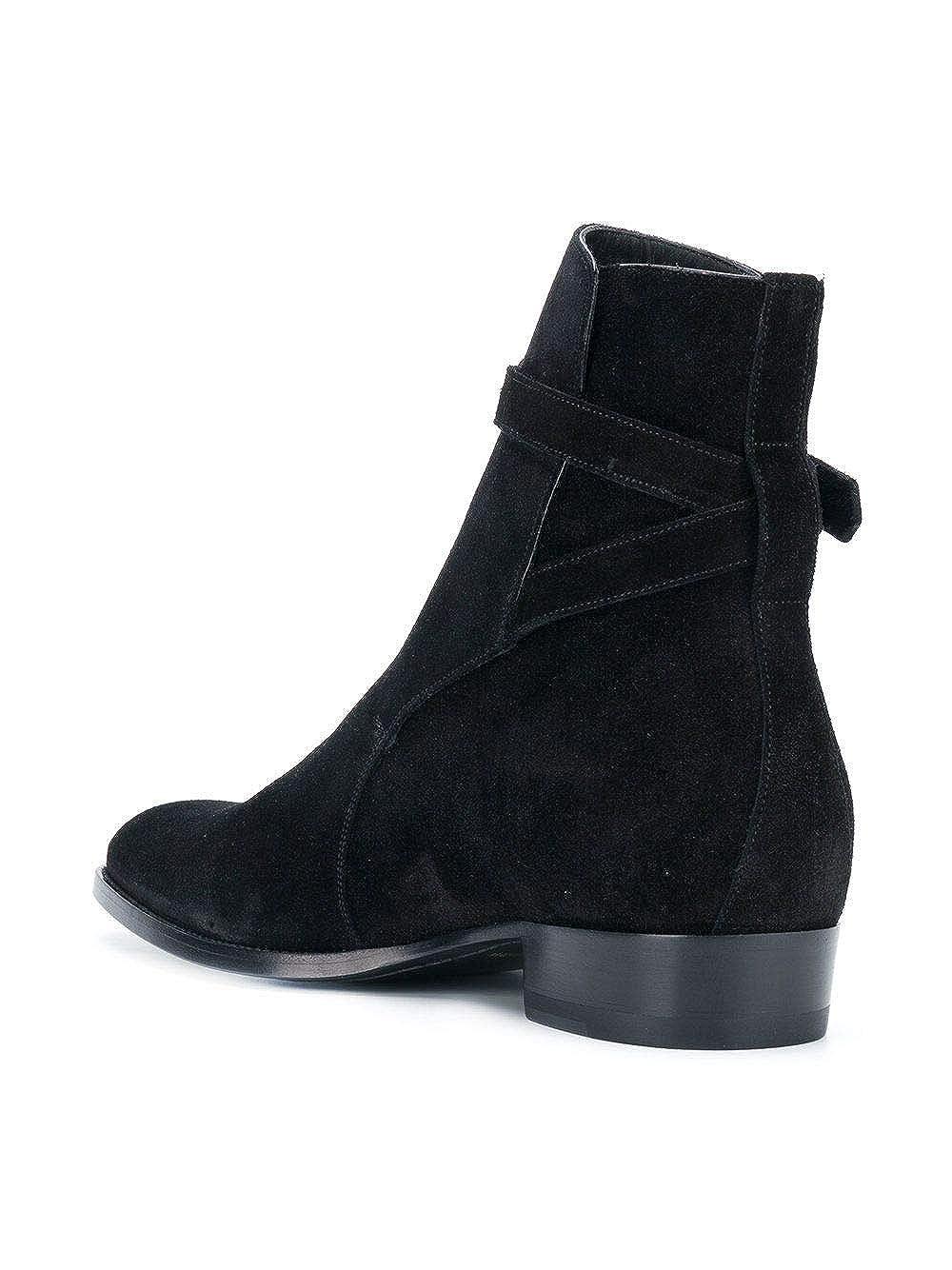Saint Laurent Hombre 498372Bt3001000 Negro Gamuza Botines: Amazon.es: Zapatos y complementos