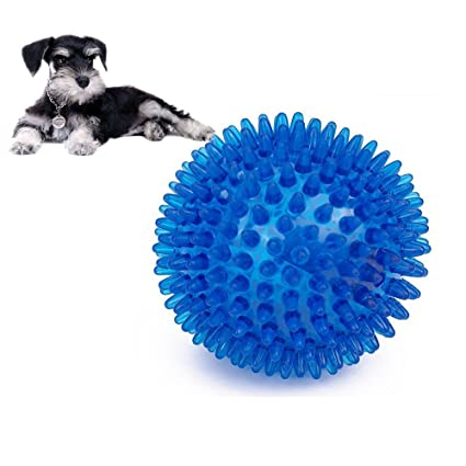 Dog Toys Pet Products Dog Toy Pet Rubber Balls Toys Squeaking Interactive Puppy Chewing Toys For Small Large Dogs Training Playing Teeth Cleaning