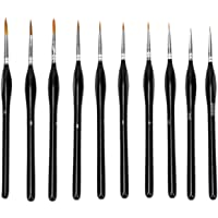 10 PCS Paint Brushes Set Nail Art Brushes Professional Sable Hair Extra Fine Detail Paint Brush Set for Art Painting…