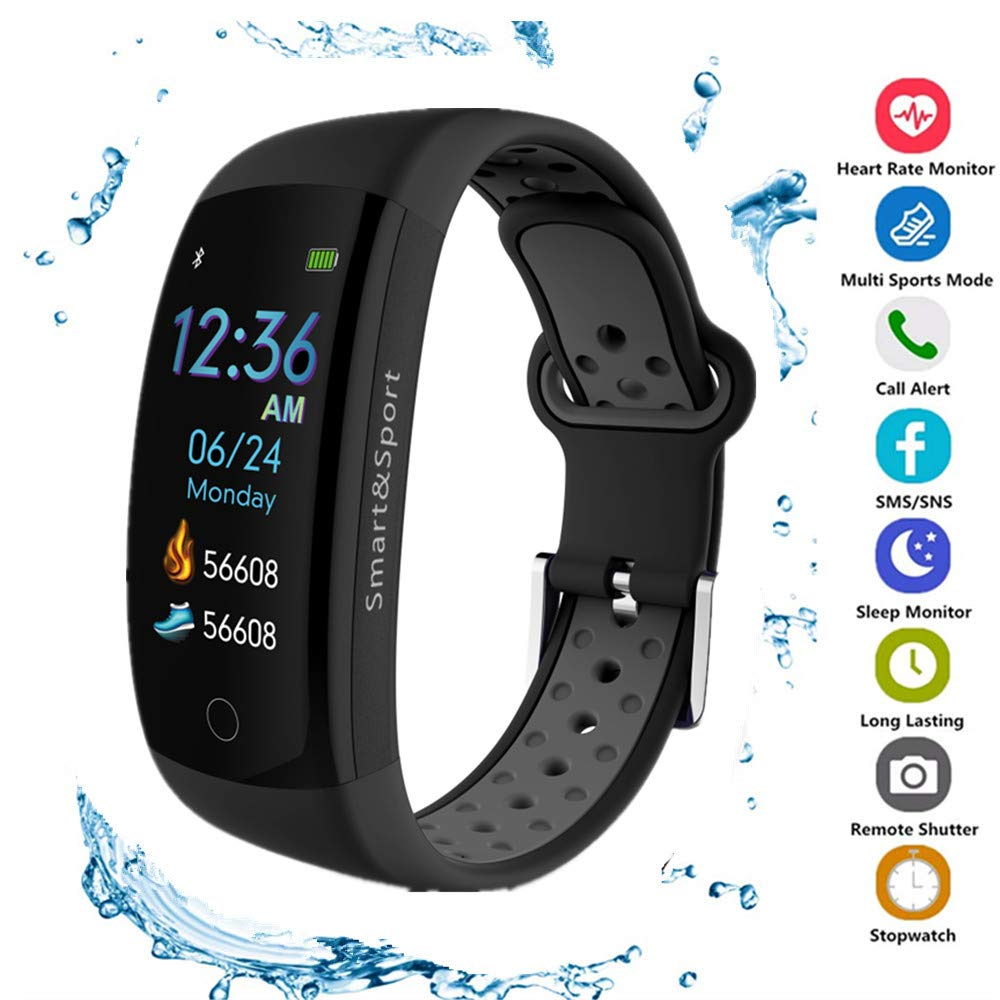 MOZEEDA Fitness Tracker, IP68 Waterproof Activity Tracker Watch with Heart Rate Monitor,Smart Fitness Band with Step Counter, Calorie Counter, Pedometer Watch for Kids Women and Men by MOZEEDA