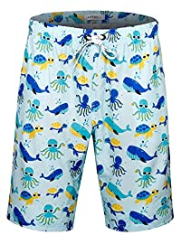 APTRO Men's Swim Shorts Colorful Bathing Suit with No Mesh Lining