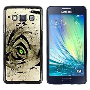 TopCaseStore / la caja del caucho duro de la cubierta de protección de la piel - Abstract Tiger Eye - Samsung Galaxy A3 SM-A300