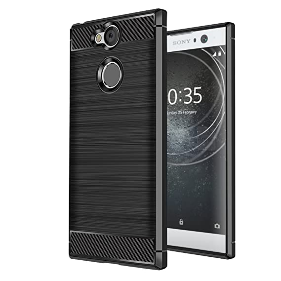 low priced a6f88 7619c Sony Xperia XA2 Case, Vinve [Slim Thin] Carbon Fiber TPU Shock Absorption  Anti-Scratches Flexible Soft Protective Case Cover for Sony Xperia XA2 ...
