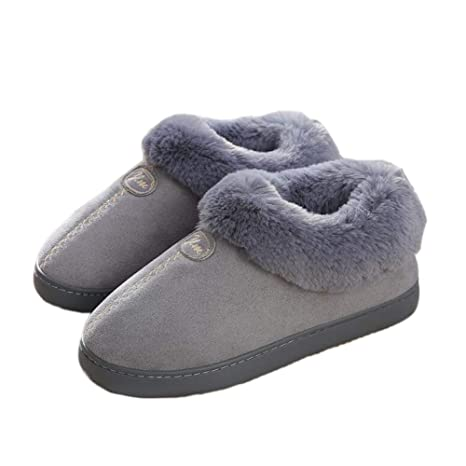 57e748573f Amazon.com  USB Heated Plush Slippers Foot Warmer - Men s Heated ...