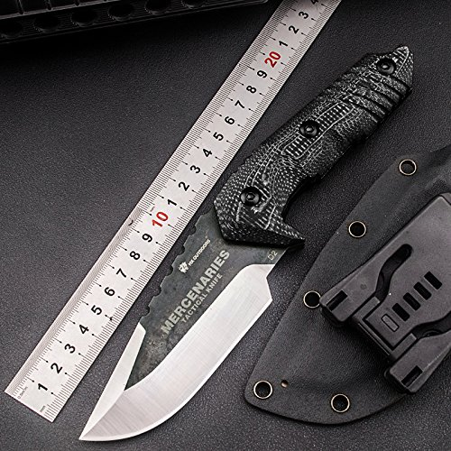 - HX-Series fixed blade tactical knives with sheath,Tanto Blade survival knife,Special forces tactical knife,Made of D2 steel and a Ergonomic G10 anti-skid handle (WARRIOR)