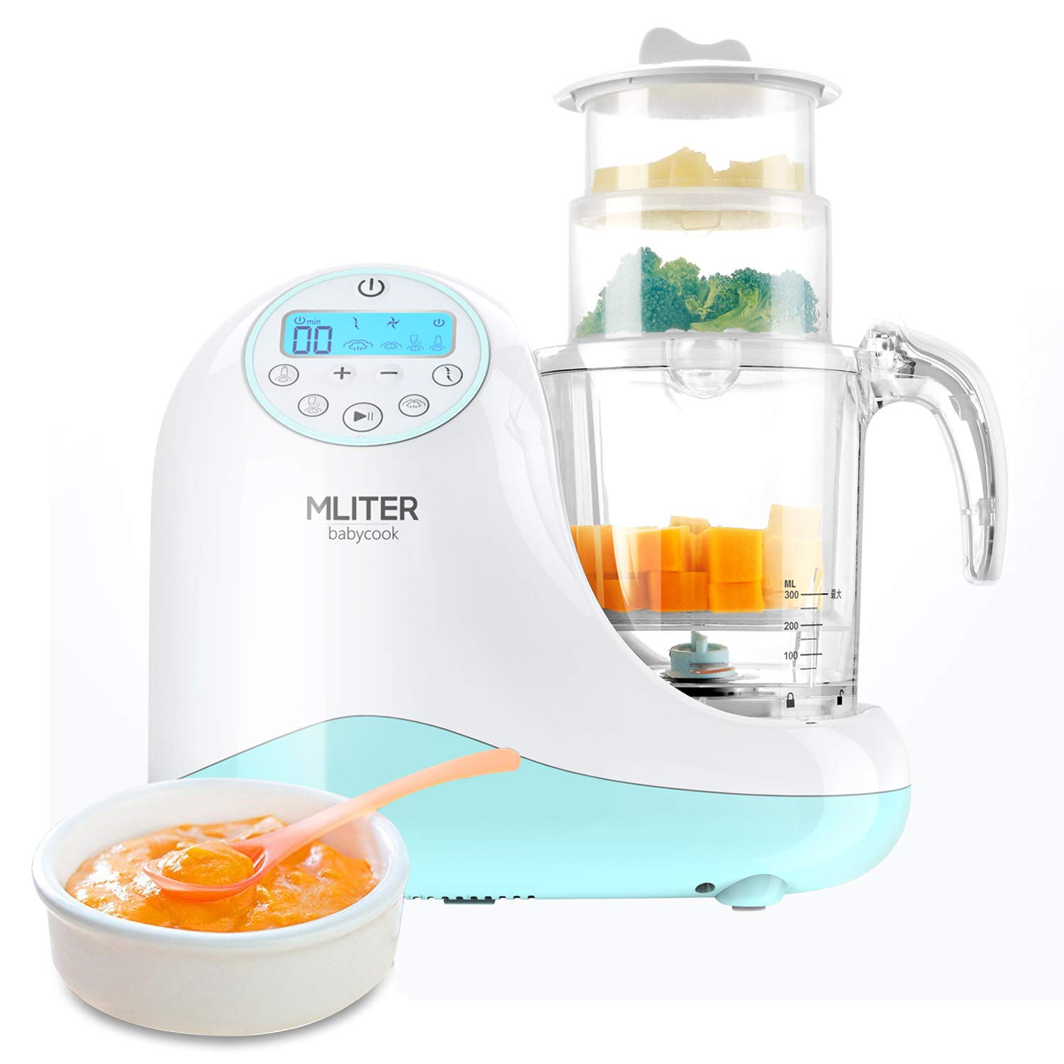 OKSLO Baby food processor for puree steamer and blender food maker for toddlers with a