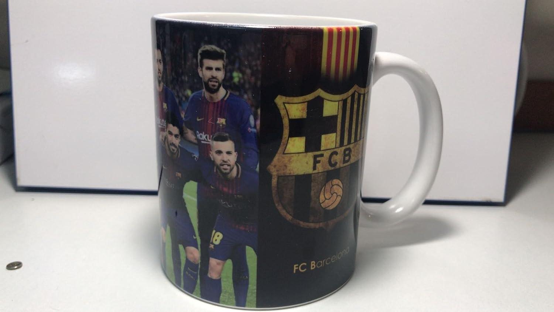 universal Taza Personalizada con foto Barca logotipo y diseño de equipo Fc Barcelona taza de desayuno ideal para regalo: Amazon.es: Hogar