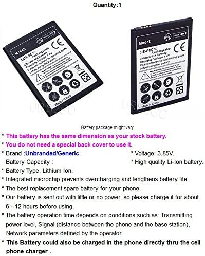 Capacity 3400mAh Extended Slim Battery for Verizon LG Stylo 2 V VS835 Phone