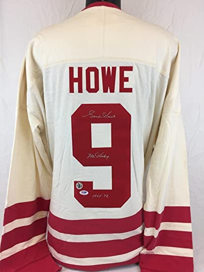 Signed Gordie Howe Jersey - Mr   Hof 72 Mitchell   Ness Coa 5 - PSA ... 439be32e437