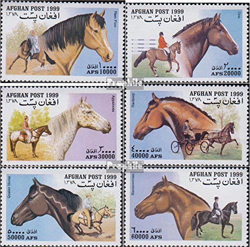 1908 Horse (Afghanistan 1903-1908 (Complete.Issue.) 1999 Horses (Stamps for Collectors) Horses)