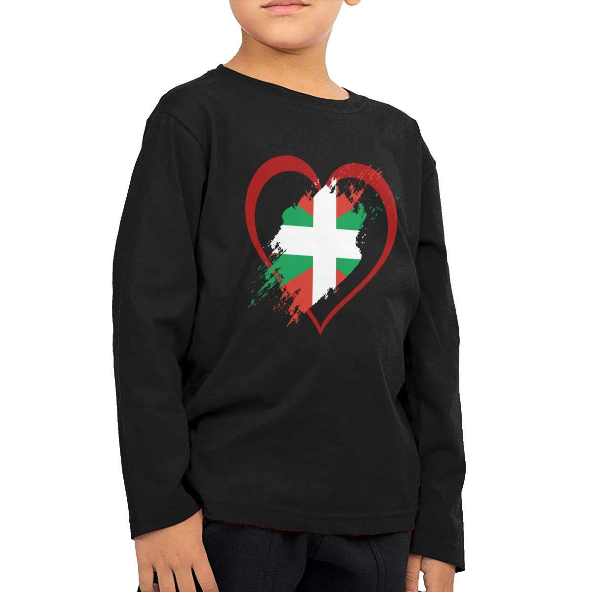 Fryhyu8 Baby Girls Kids Basque Country Flag Heart Shape Printed Long Sleeve 100/% Cotton Infants Clothes