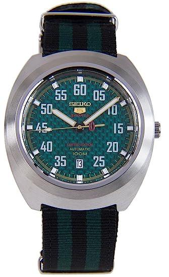 Seiko Reloj Analogico para Hombre de Automático con Correa en Tela SRPA89K1: Amazon.es: Relojes