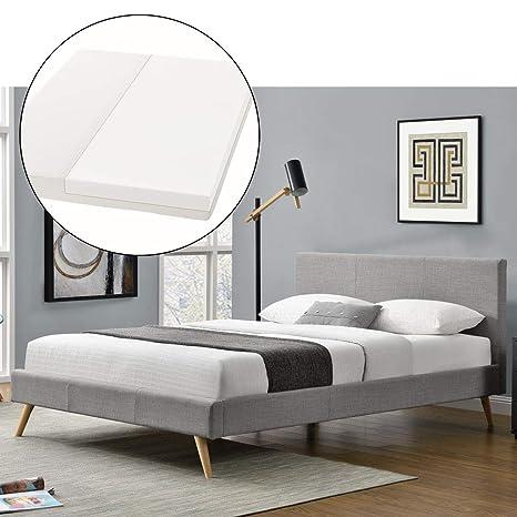 "tapizada (""Toledo – 140 x 200 cm – gris claro con somier"