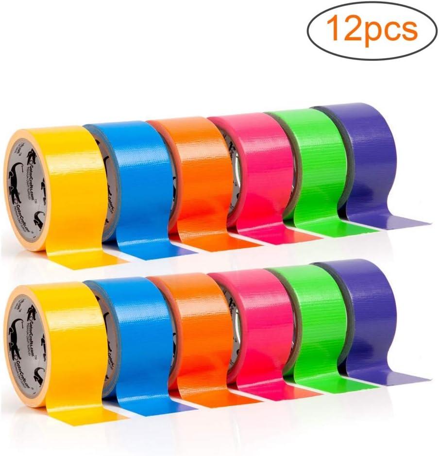 6 unidades de cinta adhesiva de varios colores para manualidades se/ñalizaci/ón 10 m x 50 mm 5cm//1pc azul proyectos de bricolaje
