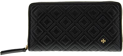 75e8923b27 Amazon.com: Tory Burch Women's Fleming Zip Continental Wallet, Black ...