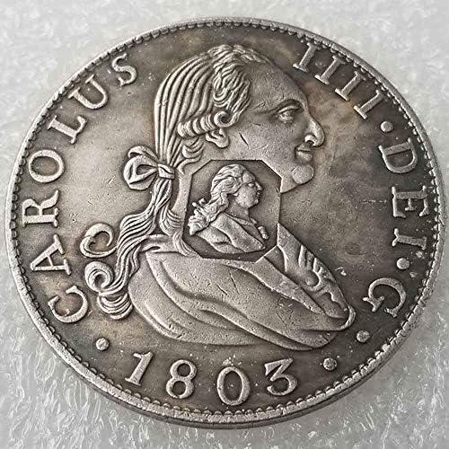 YunBest Best Morgan Silver Dollars – Moneda antigua del Reino Unido – 1803 – Colección de monedas – plata Dollar Old Coin BestShop: Amazon.es: Hogar