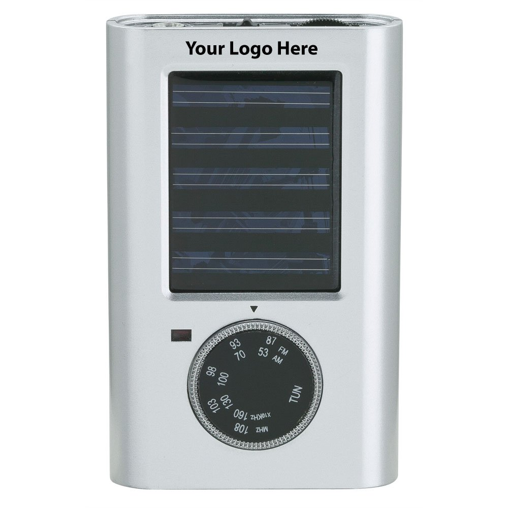 Solar Radio - 50 Quantity - $16.25 Each - PROMOTIONAL PRODUCT / BULK / BRANDED with YOUR LOGO / CUSTOMIZED by Sunrise Identity