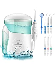 Water Flosser for Teeth, Cozzine Professional Family Dental Flosser Oral Irrigator with 2 Modes, 7 Jet Multifunctional Tips, 10 Adjustable Pressure Setting and 600ml Reservoir, FDA Approved