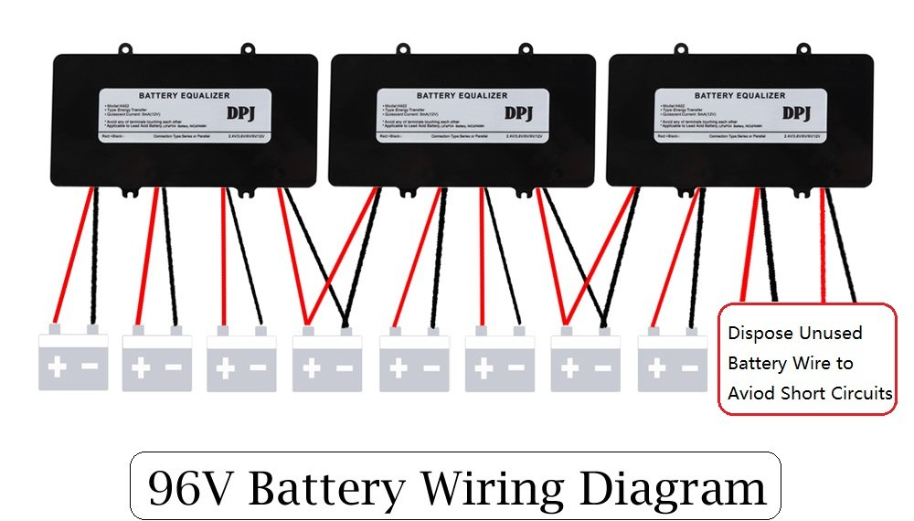 amazon com dpj 96v 108v 120v battery equalizer used for lead acid rh amazon com