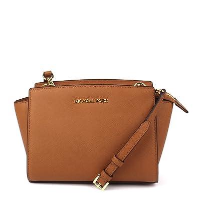 30667753f1 ... ebay michael michael kors selma tan leather messenger bag one size tan  7399d 504a8