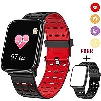 LIGE Fitness Tracker Monitor Ritmo cardíaco,Rastreador de Actividad Impermeable de Agua,Contador de Pasos,Monitor de sueño Bluetooth,Podómetro para Hombres,Mujeres y niños para Android,iOS