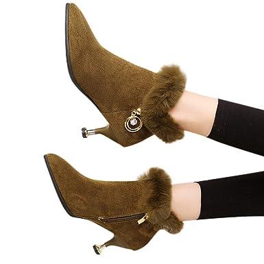 bd01e4a440d6f4 OSYARD Damen Ankle Stiefel Kurze Booties