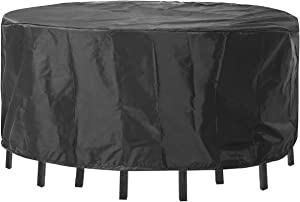"""Patio Furniture Covers Waterproof, Outdoor Table Cover Uv-Resistant for Round 70""""(Dia)×22.5""""(H) Black"""