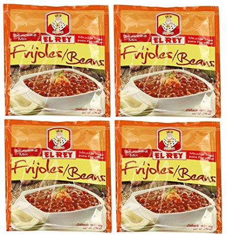 EL REY Frijoles 20 gr. | Beans Seasoning Mix 0.70 oz. - 4 Pack.