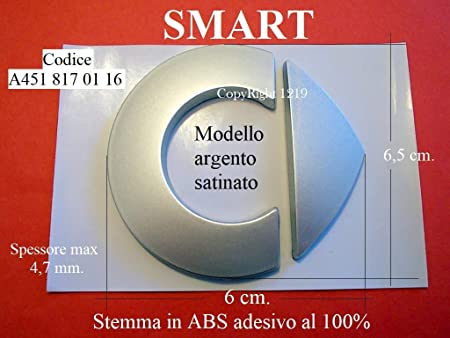 Smart FORTWO FORFOUR Stemma Anteriore A4518170116 Badge Emblema