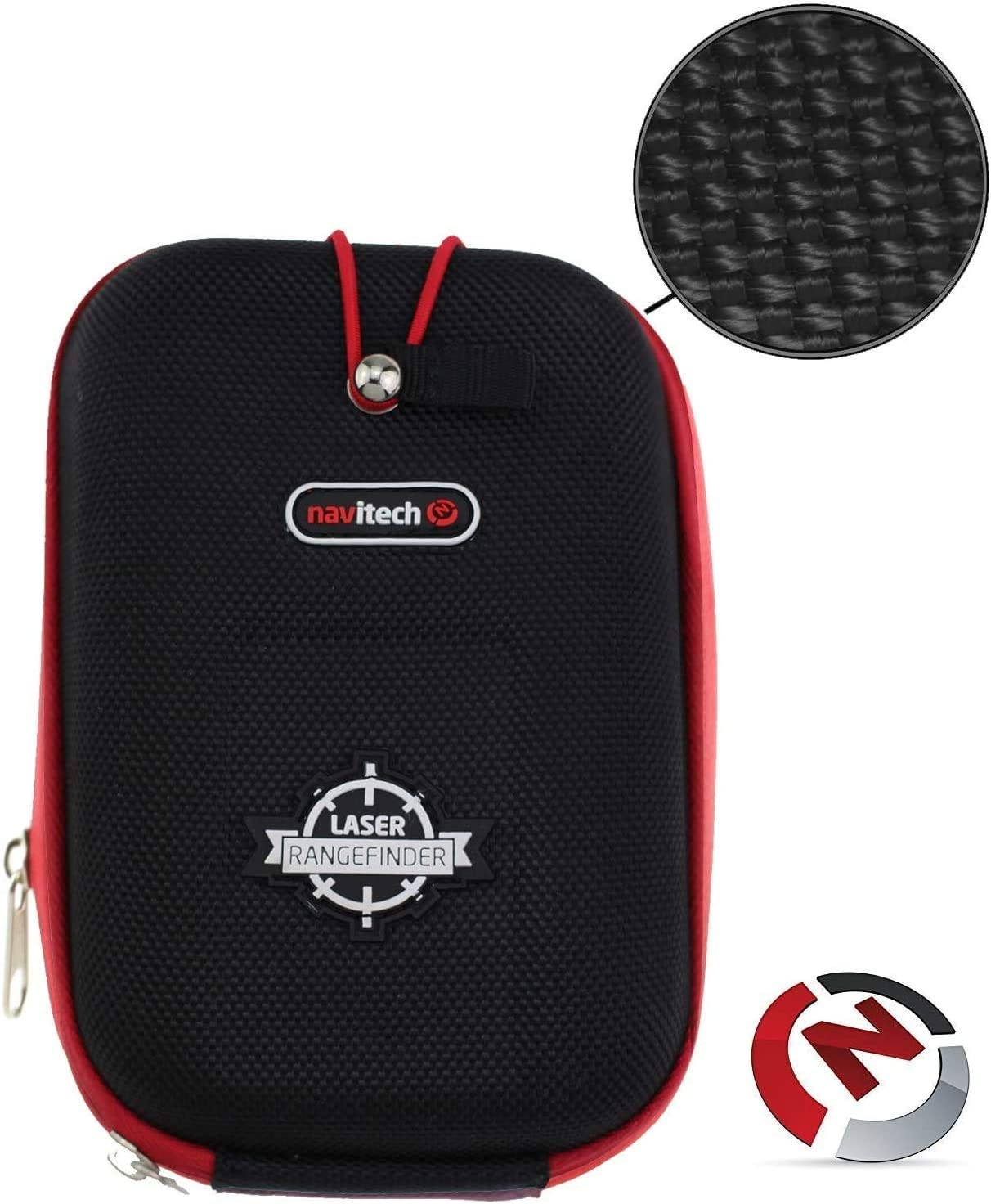 Navitech Black EVA Hard Case/Rangefinder Cover Compatible with The Wgi Innovations/Ba Products XRT Halo XRT Range Finder