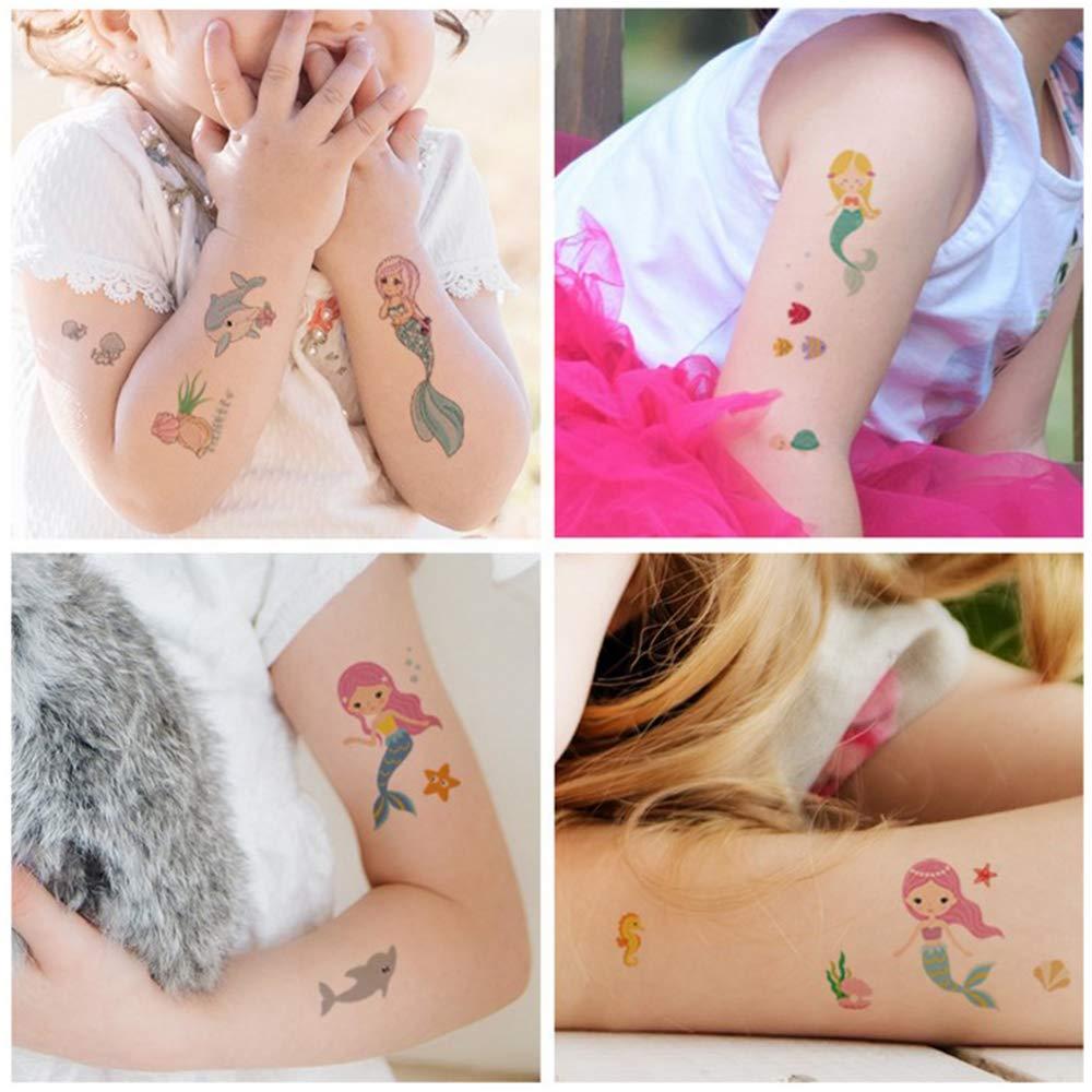gotyou Mermaid Tattoo Sticker,Etiqueta Engomada del Tatuaje de los ...