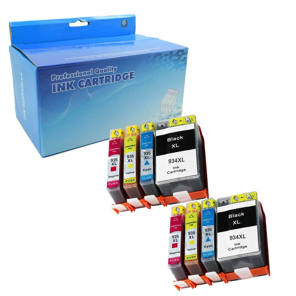 Tyjtyrjty Compatible Hp 934 935XL Ink Cartridges for HP Officejet Pro 6812 6815 Pro 6230 6830 6835 Printers (2bk,2c,2m,2y 8pk)