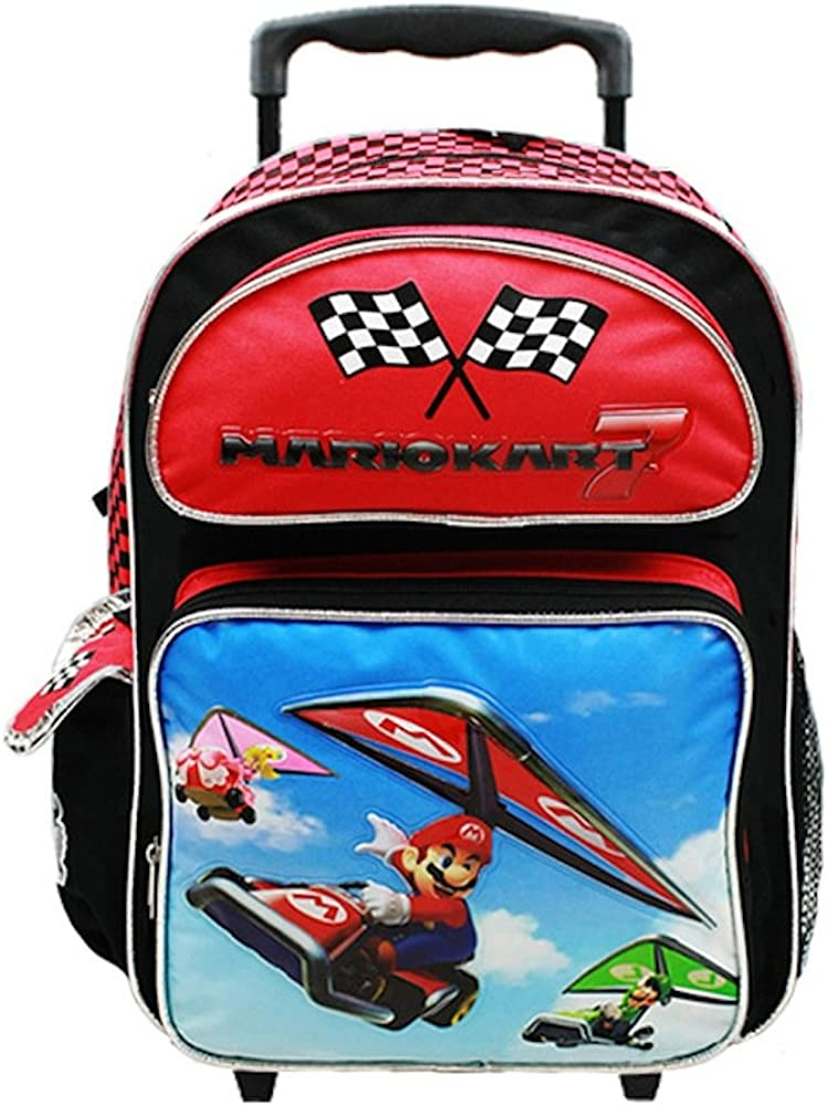 Mario Kart Large Rolling Backpack Super Mario Bros.