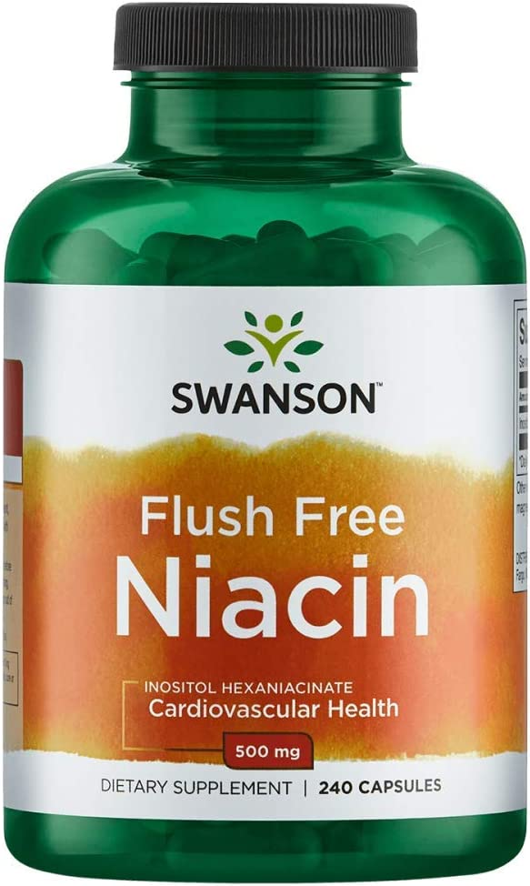 Swanson Flush-Free Niacin 500 mg 240 Caps