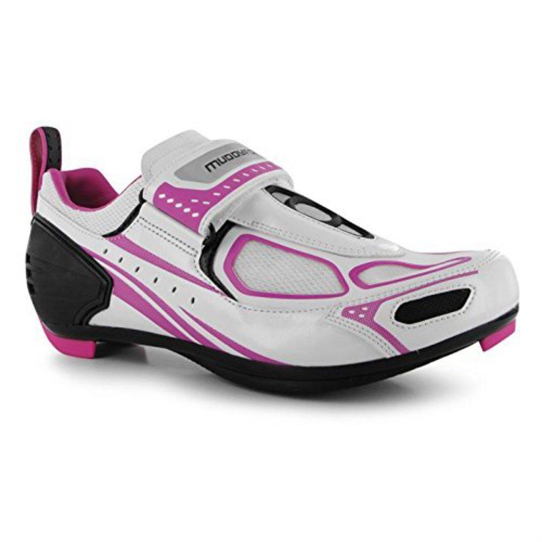 Muddyfox Womens TRI100 Ladies Cycling Shoes Waterproof Upper Mesh Panels