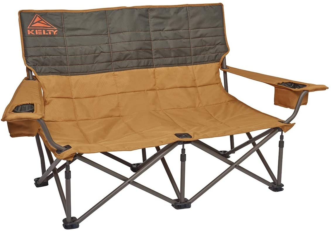 Kelty Low Loveseat Camping Chair Portable, Folding Chair for Festivals, Camping and Beach Days – Updated 2019 Model