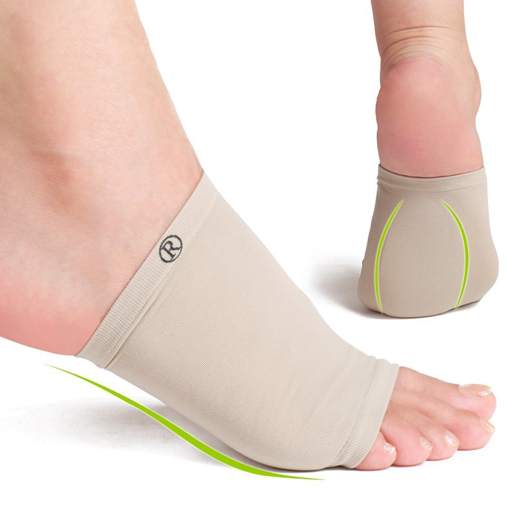597e08e6ae Amazon.com: Huluwa Arch Support Bandage, Elastic Bandage Arch Flatfoot  Orthotics Massage Insoles Pads, Arch Support Sleeves with Comfort Gel  Cushions, ...