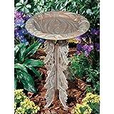 Whitehall Products Butterfly Birdbath and Pedestal, Oil Rub Bronze